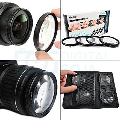 los 52mm kit de accesorios de filtro completa de lentes para