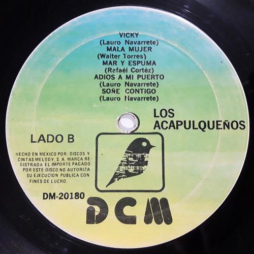 los acapulqueños - acapulco tropical y otros éxitos / lp