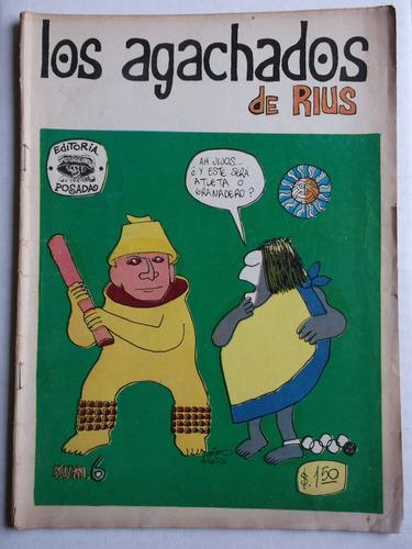 los agachados de rius # 6 editorial posada noviembre 1968