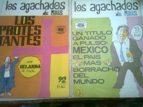 los agachados de rius lote 8 numeros comic  antiguo vv4