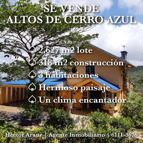 los altos de cerro azul - hermosa casa