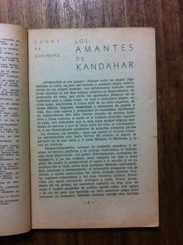 los amantes de kandahar- conde de gobineau -  antiguo