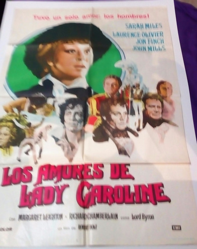 los amores de lady carolina afiche poster de la pelicula