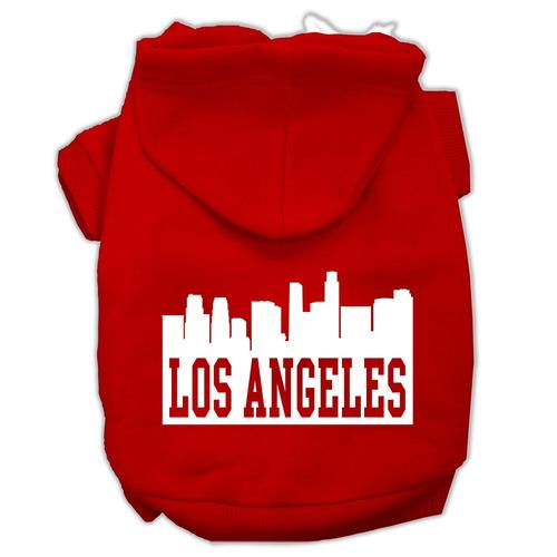 los ángeles horizonte pantalla impresión pet hoodies rojo