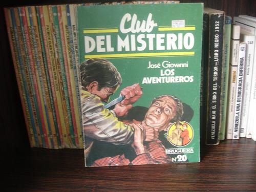 los aventureros - josé giovanni - club del misterio bruguera