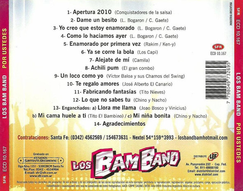 los bam band - por ustedes - los chiquibum
