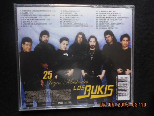 ¡los bukis!  25 joyas musicales   cd. nuevo sellado  $180.00