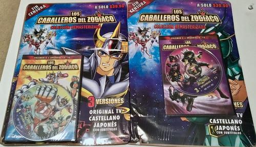 los caballeros del zodiaco 5 dvd originales + 2 laminas