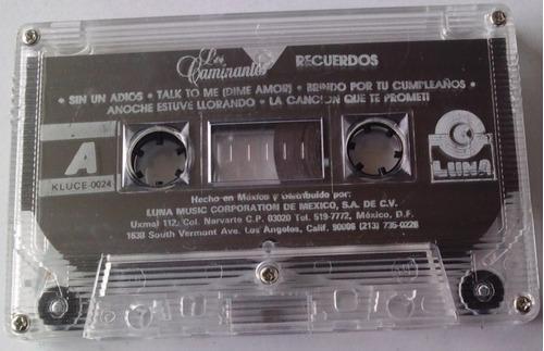 los caminantes recuerdos cassette rarisimo luna music 1992
