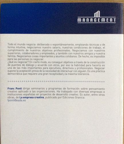 los caminos de la negociación - franc ponti - management