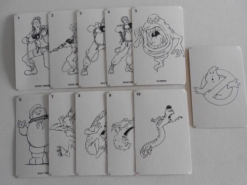 los cazafantasmas cartas naipes joxer '80
