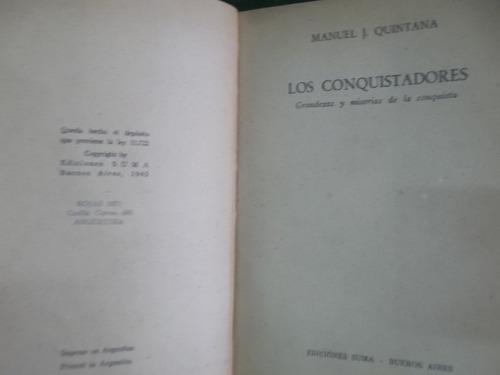 los conquistadores de manuel j. quintana