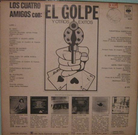 los cuatro amigos - con el golpe y otros éxitos - 1974 impor