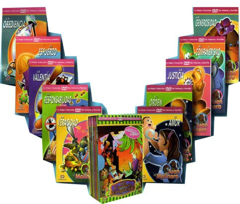 los cuentos de juan molinero 10 dvds + 1 cd musical