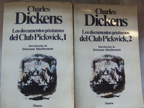 los documentos postumos del club pickwick dickens 2 tomos