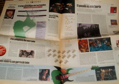 los enanitos verdes antiguo suplemento el rockero