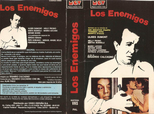 los enemigos ulises dumont mirtha busnelli nelly prono vhs