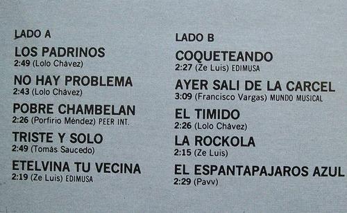 los ermitaños. disco l.p. peerless 1989