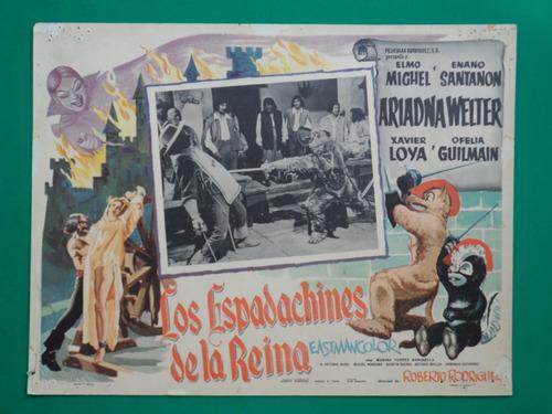 los espadachines de la reina enano santanon cartel de cine