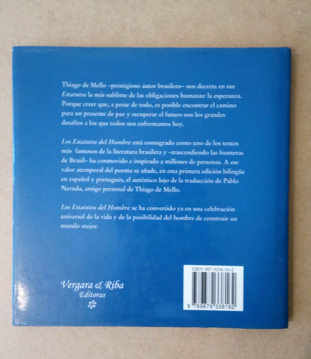 Los Estatutos Del Hombre De Thiago De Mello 20000
