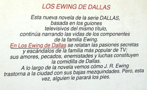 los ewing de dallas burt hirschfeld novela