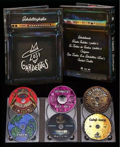 los gardelitos gardelitografia box 5 cd + dvd nuevo original