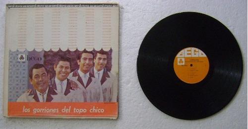 los gorriones del topo chico alegria 1 disco lp vinilo