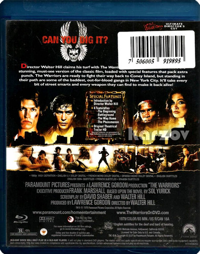 los guerreros the warriors ultimate director ' s cut blu-ray