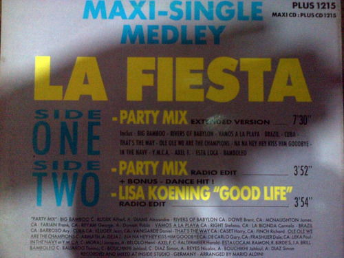 los hijos del sol vinilo party mix (la fiesta)dialogomusical