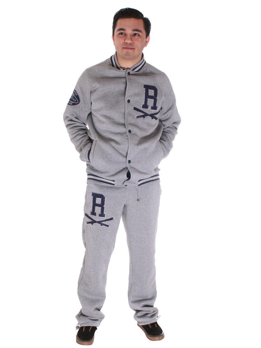 Los Hombres Chándal Jogging Top + Pantalones... (grey 541304f32f19