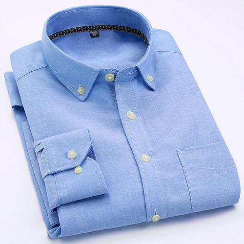 los hombres de camisa oxford de negocios camisas formales