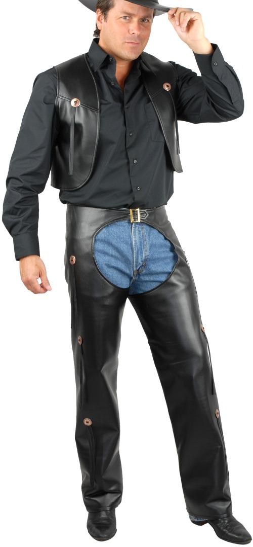 b691f13ceb7fe Los Hombres De La Gama Rider Traje Vaquero Negro De -   207.550 en ...