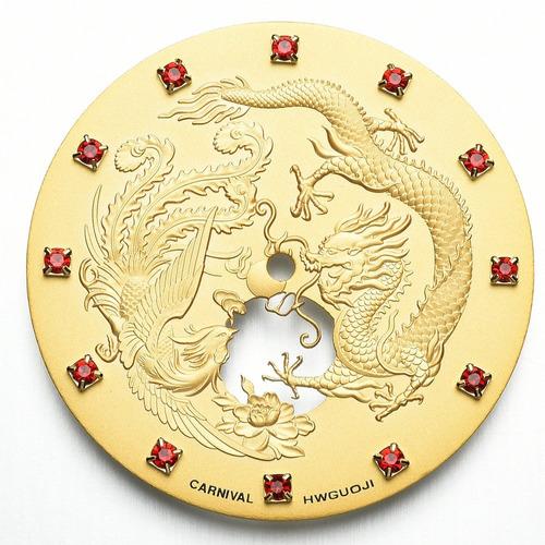 los hombres del dragón y de la serie de phoenix rhinestones
