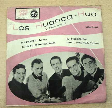los huanca hua el borrachito vinilo simple c/ tapa arg