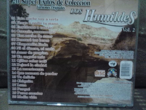 los humildes - 20 super exitos vol. 2 (cd original)