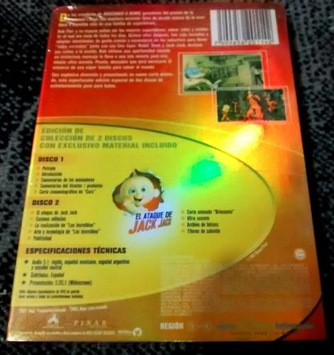 los increíbles pelicula dvd edición de colección 2 discos