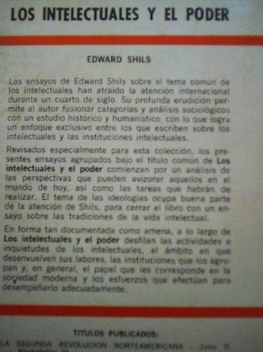los intelectuales y el poder edward shils