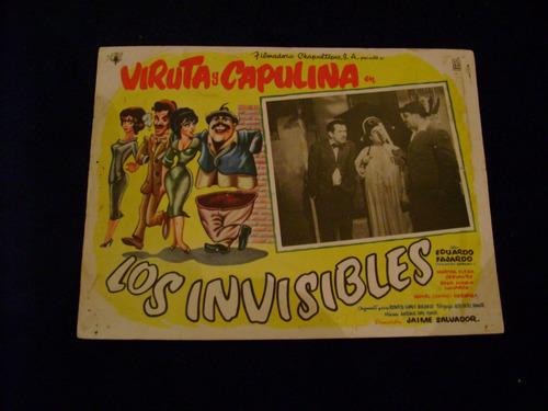 los invisibles  viruta capulina lobby card cartel poster