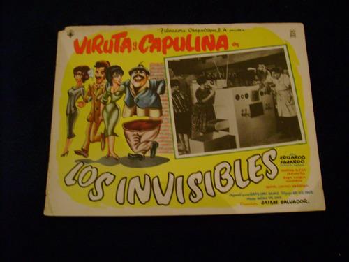 los invisibles viruta y  capulina cartel poster 27.9.17