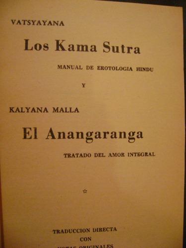 los kama sutra manual de erotología hindú y el anangaranga