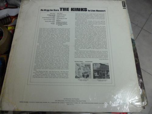 los  kinks vinyl l.p. de 12 an orgy for ears in live koncert