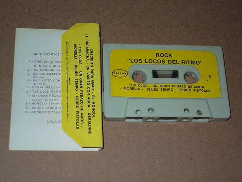 los locos del ritmo rock audio cassette kct tape