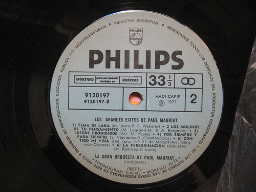 los más grandes éxitos de paul mauriat (philips 9120197)