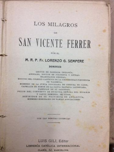 los milagros de san vicente ferrer-p.fr. lorenzo g.sempre