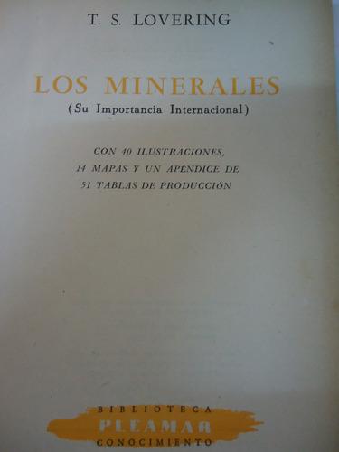 los minerales su importancia internacional -t.s.lovering