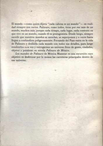 los mundos de palinuro  /  mónica mansour