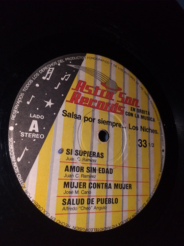 los niches salsa por siempre lp 1990 astro son récords