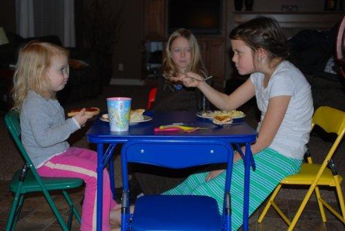 los niños de la mesa plegable y sillas plegables muebles de