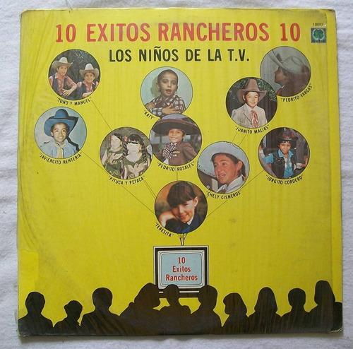 los niños de la tv. 10 exitos rancheros. disco l.p. musart