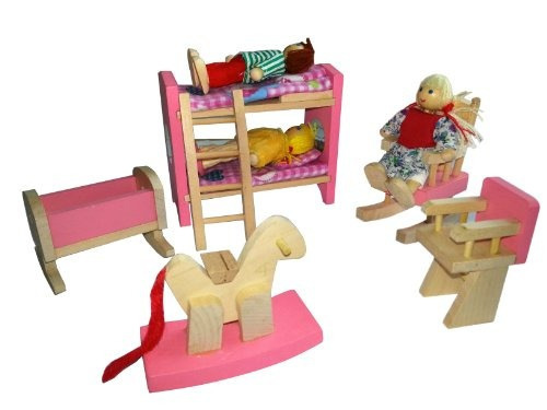 Los ni os de regalo muebles de casa de mu ecas de madera for Muebles casa de munecas